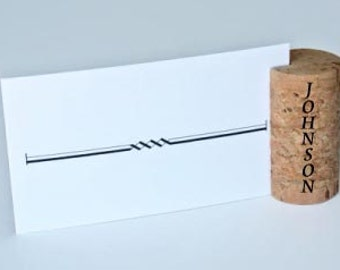 Personalized Vertical Wine Cork Place Card Holders, Set of 100