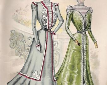 1899 Womens Fashion Print