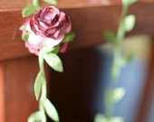 Fall paper rose garland, burgundy garland, wine garland, wedding garland