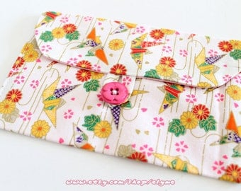 Handmade Pouch, Traditional Japanese Pattern