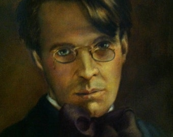 W B Yeats Portrait - Poet William Butler Yeats Giclee - Archival Print
