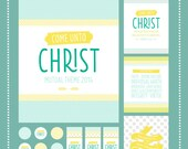 2014 LDS Young Women's Mutual Theme Printable Package - Mormon Art - Young Women's Values - Latter Day Saint LDS