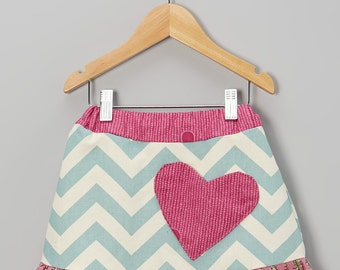 SALE 18m Pink Chevron Pocket Skirt