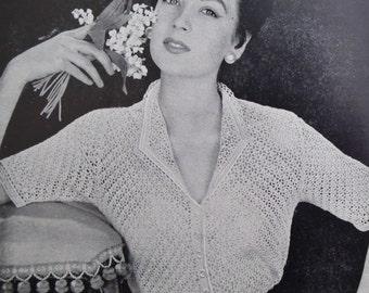 Vintage Needlecraft Magazine 1950s Sewing Crochet Knitting Patterns 50s - Needlewoman and Needlecraft No 55 July 1953 UK - original patterns