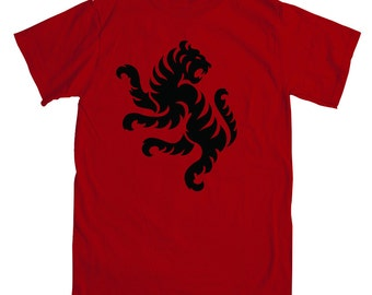 TIGER (Front & Back) Logo Red T-Shirt