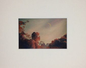 Moon and Clouds - Print