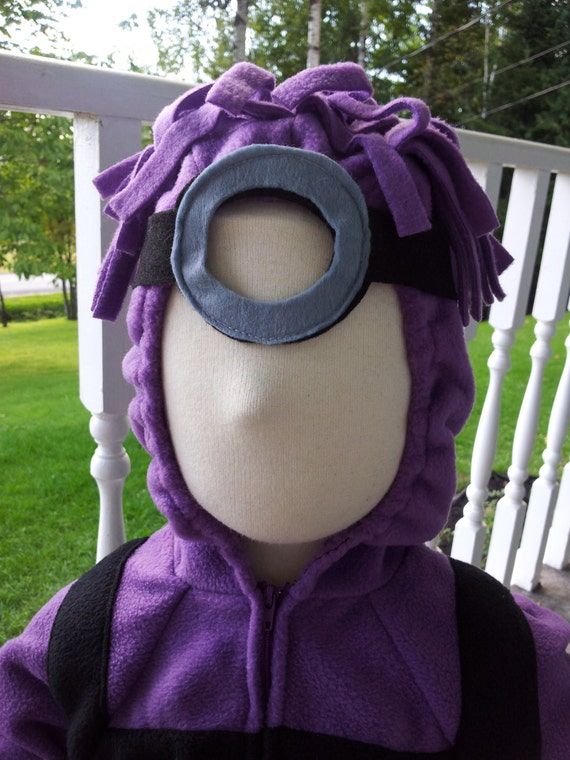 Custom Baby or Child Evil Purple Minion Halloween Costume With