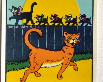 Vintage Retro Water Slide Decal / Transfer. Regular Calls Pay Off - Cats / Alley Cats / Pets