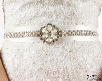 Wedding Sash Belt Vintage, Bridal Belt Vintage, Bridal Belt Pearl, Wedding Sash Pearl, Pearl Sash Belt, Crystal Sash, Crystal Wedding Sash