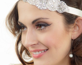 Bridal headband, Wedding Headband, Rhinestone Headband, Crystal headband, Bridal headpiece, Bridal Hair Piece