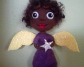 African American CHRISTMAS Angel Ornament