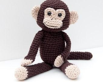 PDF Crochet Pattern - Monkey Business Amigurumi Monkey Doll