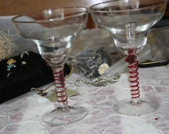 Grand Marnier Swirled Margarita Glasses