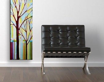 Tree Song no. 22 Always (8x24) original painting on canvas by Kristi Taylor