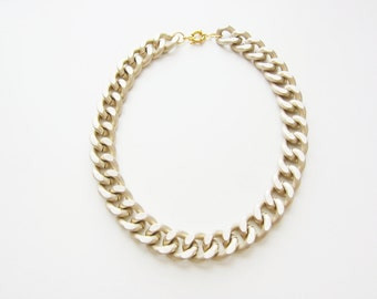 Matte Chunky Gold Chain Necklace