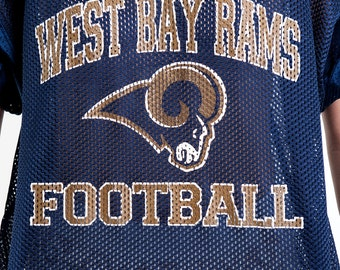 The Vintage West Bay Rams Football Navy Jersey Shirt
