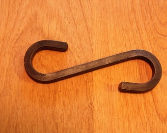 Forged Iron S Hook 4""