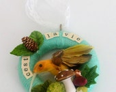C'est La Vie Small Hummingbird Wreath Decoration