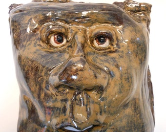 Squaring Off Ceramic Wall Mask