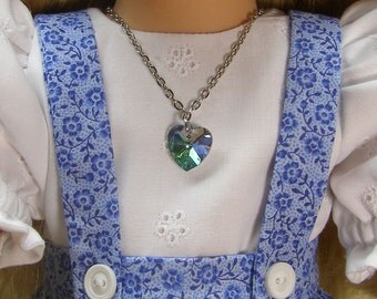 Iridescent heart for the American Girl and other 18 inch dolls
