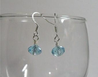 Aquamarine Swarovsky Crystal Earrings