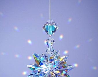 m/w Swarovski Crystal Aurora Borealis Suncatcher *LILY* Octagons Star Car Charm Ornament Starburst by Lilli Heart Designs