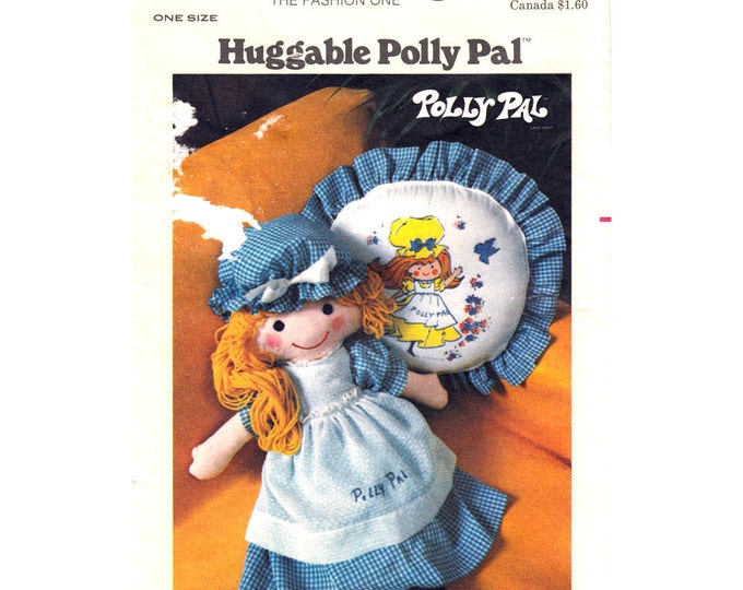 1970s Rag Doll Pattern Butterick 4519 Doll Clothes Pillow Transfer Size 26 Inch