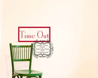 Time Out Vinyl Decal
