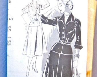 1940s or early 50s peplum Dress Vintage mail order sewing pattern 2725   Bust 37