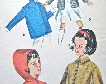 60s Butterick 9953 girls hooded jacket Vintage Sewing pattern