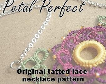 Petal Perfect necklace - original tatting pattern