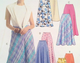 Reduced - See shop announcement for 60%off code - McCalls - M5023 Pattern - Misses/Miss Petite Bias Skirts - UNCUT