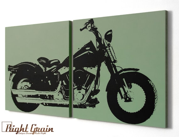 xl vintage motorcycle on natural birch woodgrain by rightgrain. Black Bedroom Furniture Sets. Home Design Ideas