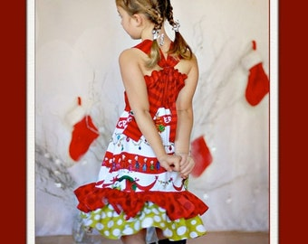 Girls Christmas Dress, Grinchmas, many childrens sizes, by SunLoveShirts