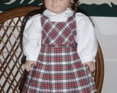 1940s Plaid Jumper for American Girl Molly or Emily 18 inch doll