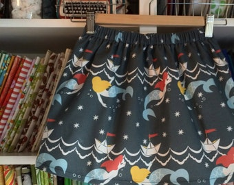 Mermaids and Paper Boat Skirt