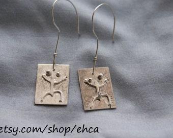 Handmade Taino Sapo Coqui Dangle Earrings
