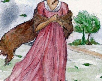 Sense and Sensibility art print.  Jane Austen.