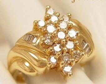 Immediate Gratification - Vintage 14Kt Gold Diamond Ring