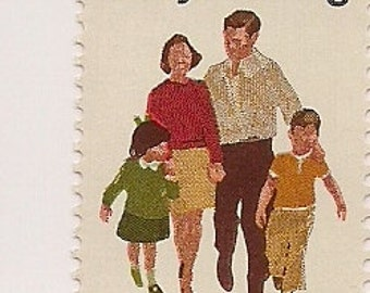 Family Planning stamps plate block uncanceled stamps 1972 --FREE SHIPPING