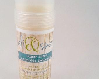 Super Fresh Probiotic Deodorant // completely natural // no baking soda // vegan // gluten free // paleo//  aluminum free