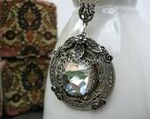 Crystal Necklace - Crystal Pendant  - N305