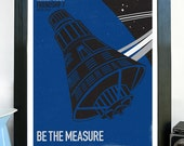 Science Poster Art Print NASA Mercury Friendship 7 Spacecraft  Be The Measure Stellar Science Series