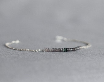 violet ombre bracelet . wisteria