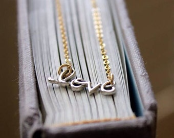Love Necklace - Celebrity Style - Mixed Metals