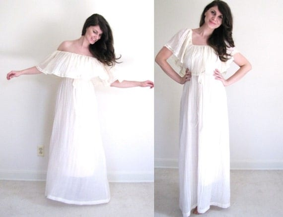 Boho Wedding Dress / Mexican Wedding Dress by Coldfish on Etsy