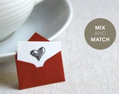 Mix and match Tiny Love Notes - Pick any 6 colors and patterns