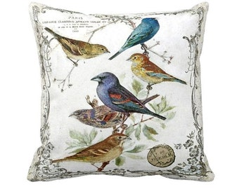 Pillow Cover Springtime Birds