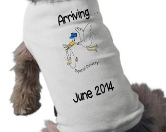 Pregnancy Announcement Dog Shirt - Pet Graphic Tee - Dog T-Shirt  - Custom