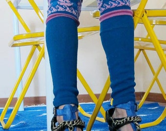 Knitted Sailor legwarmers- Knit Mystique